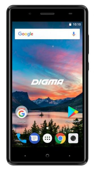 "Смартфон Digma HIT Q500 3G 8G DS 5"" Black"